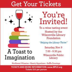 A Toast to Imagination: Wilsonville Library Fundraiser @ Wilsonville Public Library | Wilsonville | Oregon | United States