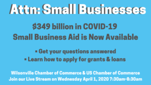 Virtual Town Hall: Small Business Federal Aid with Chris Eyler, US Chamber @ Facebook / YouTube